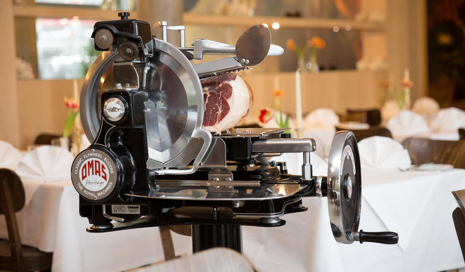 Schwungrad-Aufschnittmaschine